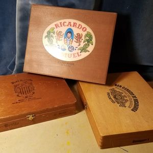 Wooden Cigar Boxes OLD